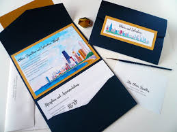 wedding invitations chicago chicago themed wedding invitations starglow studios