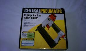 Central Pneumatic Staples by Central Pneumatic 18 Gauge 2 In 1 Air Nailer Stapler Ebay