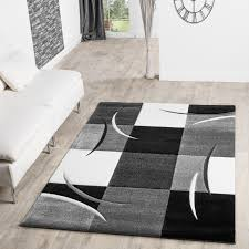 teppiche wohnzimmer teppich schwarz weiß grau architektur teppich schwarz weiß grau
