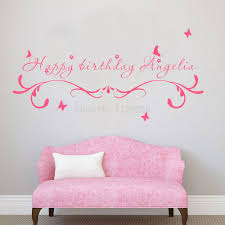Personalized Wall Decor For Home Online Get Cheap Home Decor Wall Sticker Happy Birthday