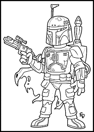 boba fett helmet coloring pages coloring home