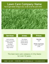Mowing Flyer Template care flyer template for word