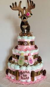 camo cake toppers this 3 tier cake is constructed of 72 diapers camo and light pink