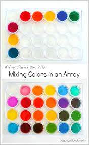 mixing colors color array using a tray and pipettes buggy and buddy