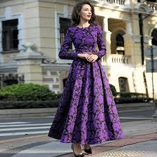 online get cheap purple print maxi dress aliexpress com alibaba