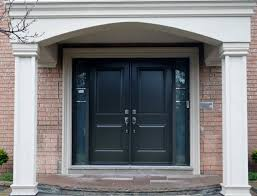 decorating charming therma tru doors with sidelight and bricked