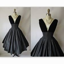 50 u0027s cocktail dress vintage 1950 u0027s black taffeta full new look
