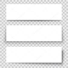 design header paper blank sheet of paper with vertical banner and shadows design