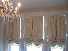 Linen Valance Balloon Curtains For Living Room Shabby Chic Curtains Window