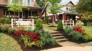 landscape plans front yard ideas flower bed of house garden sweet