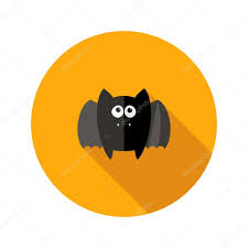 bat flat icon with fangs u2014 stock vector 54995389