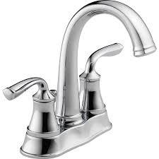 shop delta lorain chrome 2 handle 4 in centerset bathroom sink