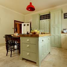 Green Country Kitchen Country Kitchen With Green Island Unit Tiles With Cupboards