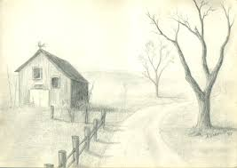 easy pencil sketches landscapes drawing art u0026 skethes