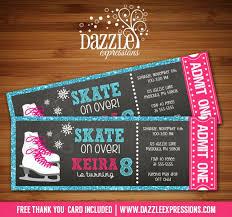 ice skating birthday invitations ice skating birthday invitations