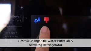 refrigerator red light how to change the water filter in a refrigerator youtube