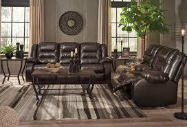 Reclining Sofa Set 2 Pc Vacherie Chocolate Reclining Sofa Set