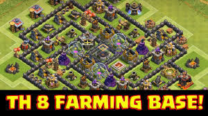 big clash of clans base clash of clans th8 town hall 8 farming base the spiral epic