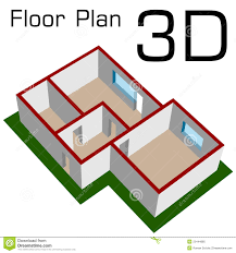 3d empty house floor plan royalty free stock photo image 22444885