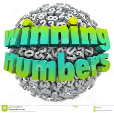 winning numbers ball lottery jackpot game sweepstakes stock image