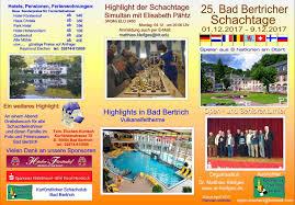 Bad Bertrich 25 Internationale Schachtage 2017 Schachclub Badbertrichs Webseite