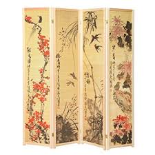 Wooden Room Dividers by Amazon Com Oriental Style 4 Panel Wood Room Divider Japanese Art