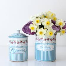 Purple Kitchen Canister Sets Sold French Enamel Kitchen Canisters My French Finds
