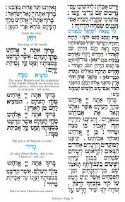 family haggadah haggadah for the american family sle page 9 hebrew text