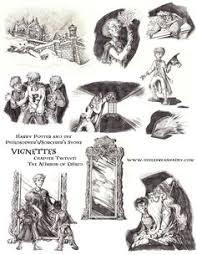 pencil bristol board vignette drawings