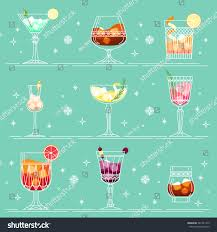 christmas martini clip art cocktails alcohol drinks set line art stock vector 541221475