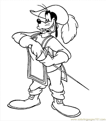 coloring pages musketeers 3 cartoons u003e goofy free