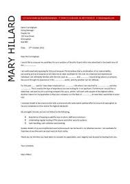 security cover letter security guard cover letter resume covering