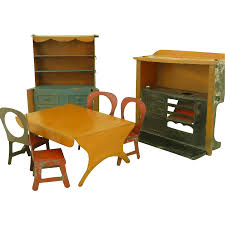 vintage tinplate dolls house kitchen furniture tin hopkins bros