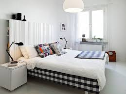 nice fetching striped wall decor scandinavian bedroom design with stunning modern scandinavian bedroom decorating