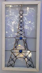 eiffel tower style stained glass l gift new