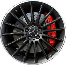 mercedes amg black rims aly85166 85167u45 mercedes c63 amg wheel black 2044014802