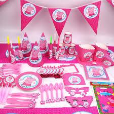 peppa pig birthday supplies new kids peppa pig theme birthday party supplies favor tableware