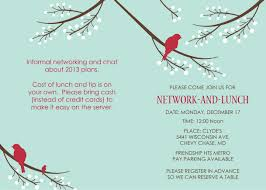 Lunch Invitation Card Celebrating A Year Of Networking Lunches Fletcher Prince