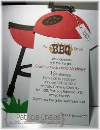 mis ideas u0026 creaciones by patty chalas bbq invitation custom order