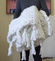 diy blanket knit a thick cozy chunky diy blanket in one day hometalk