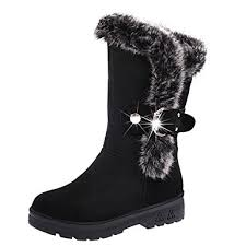 womens fur boots uk brezeh boots womens winter warm flat heels boots shoes