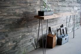 Reclaimed Wood Console Table Mid Century Rustic Console Table Reclaimed Wood Console