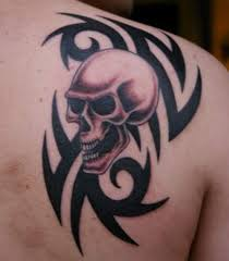 best skull with tribal design idea for and