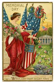 vintage memorial day image lady liberty postcard vintage
