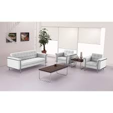 Contemporary Leather Loveseat Nationwide Office Furniture Fabio Modern White Leather Lounge Chair
