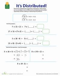 properties of multiplication distributive worksheet education com