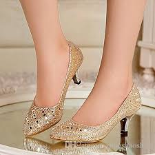 wedding shoes gold color 2015 real image best selling sliver gold bridal shoes beading