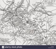 France Region Map by Map Illustrating The Region Of The First Battle Of The Aisne