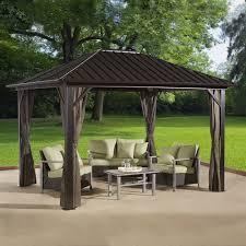 patio gazebo lowes hardtop gazebos lowe u0027s canada