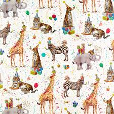 wrapping paper birthday animals wrapping paper the container store